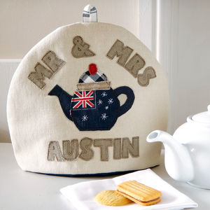 Personalised Australian Flag Tea Cosy