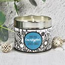 Eucalyptus Scented Hand Made Candle In A Tin