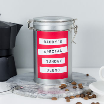 fathers day gift personalised coffee