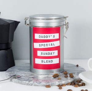 Personalised Fathers Coffee Gift Tin