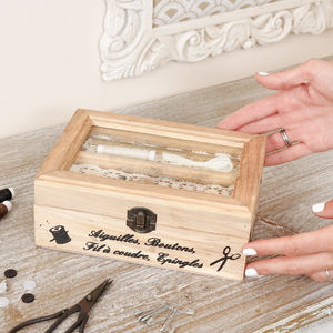 Personalised Vintage French Style Sewing Box