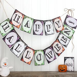 Halloween Decorations, Halloween Bunting Trick Or Treat