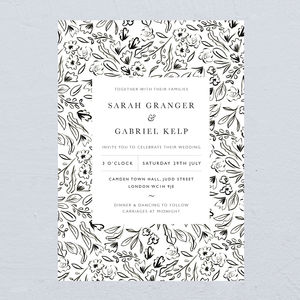 Matisse Monochrome Wedding Invitations - what's new