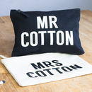 Personalised Mr And Mrs Wash Bag Set