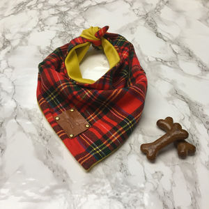 Topolo Tartan Luxury Dog Bandana Neckerchief - pet's christmas clothing