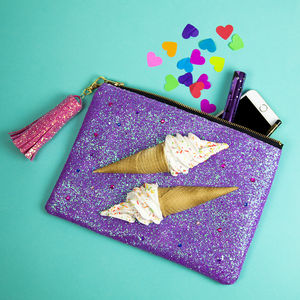 3D Glitter Ice Cream Clutch Bag - 18th birthday gifts