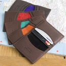 colourful leather credit card wallet group by Toddtote