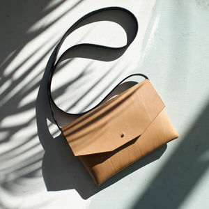 Oak Bark Tanned Leather Shoulder Bag