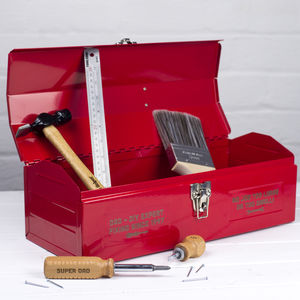 Personalised Metal Tool Box - home decorating