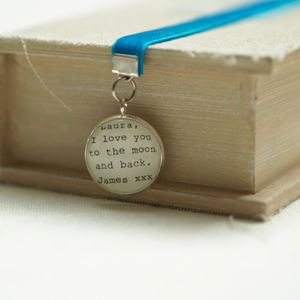 'I Love You To The Moon And Back' Personalised Bookmark - bookmarks