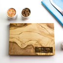 Personalised Olive Wood Chopping / Cheese Board