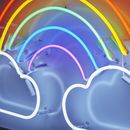 Rainbow And Clouds Neon Light Sign