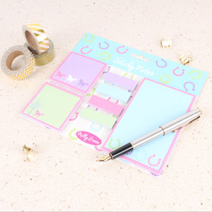 Playful Ponies Sticky Notes - summer sale