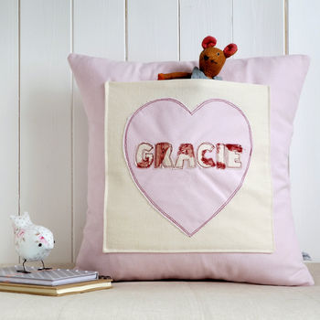 Personalised Pocket Cushion For Girls