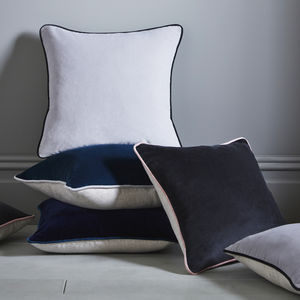 Contrast Velvet Cushion