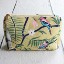 Botanical Birds Make Up Bag