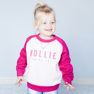 Personalised Baby/Child Girl's Sweatshirt