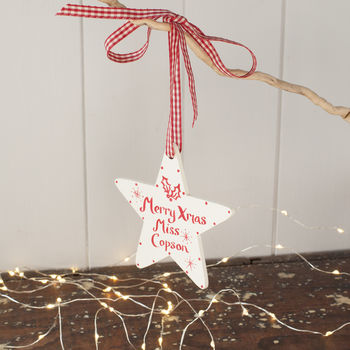 A Personalised Teacher's Christmas Star Gift