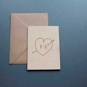 Personalised Wooden Love Card - shop by category