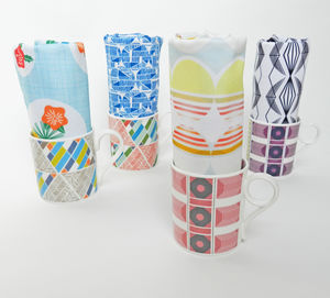 Geometric Mug And Tea Towel Gift Set