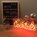 Cocktails Neon Lightbox