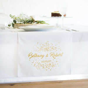 Personalised Top Table Wedding Confetti Table Runner - tableware