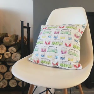 Campervan Pattern Square Cushion - whatsnew