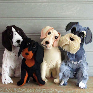 Felt Dog Sculpture