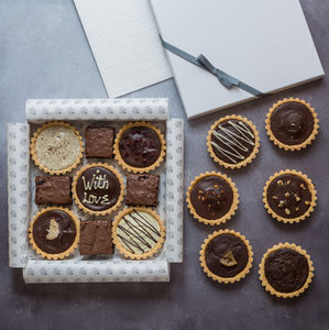 Personalised Gluten Free Millionaires Selection Box - shortbread