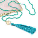 Personalised Tree Of Life Long Tassel Necklace