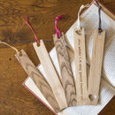 Personalised Oak Bookmark selection