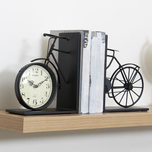 Cycling Bicycle Bookends With Clock - baby's room