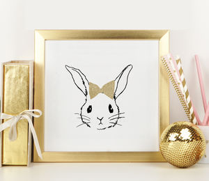 Glitter Rabbit Nursery Art - pictures & prints for children