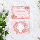 Wild Flower Wedding R.S.V.P Cards Pack Of 10