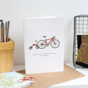 Cycling Hero Birthday Card Personalised - father's day cards