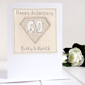 Personalised Diamond Wedding Anniversary Card