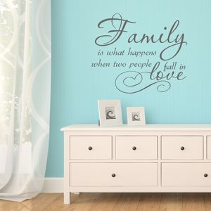 Family Love Quote Vinyl Wall Sticker - office & study