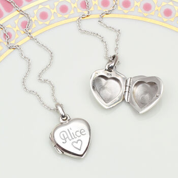 Petite Personalised Sterling Silver Girl's Locket