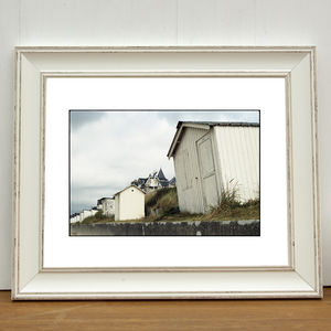 Beach Huts, Carolles Photographic Art Print
