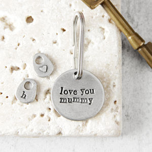 'Love You Mum/Mummy' Keyring - womens