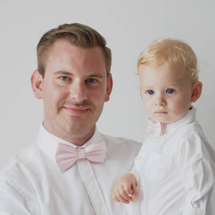 695d24e61 father and son bow tie set by matchimony | notonthehighstreet.com