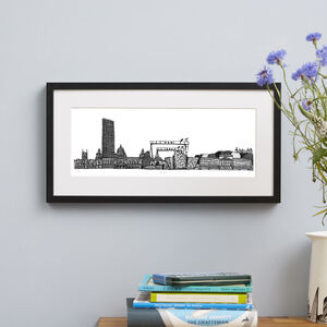 Belfast Skyline Screen Print