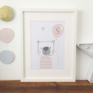 Personalised Bear Nursery Print For Children - nursery pictures & prints