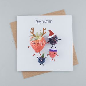 Berry Christmas Greeting Card - cards