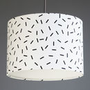 Black And White Sprinkles Drum Lampshade