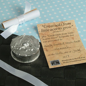From Little Acorns Christening Box Personalised