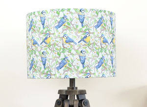 Blue Tit Bird Lampshade - living room