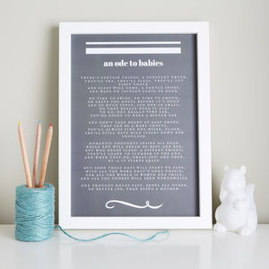 New Baby Gift Poem An Ode To Babies