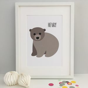 Baby Bear Nursery Print - new in prints & art