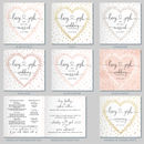 Confetti Heart Wedding Invitation